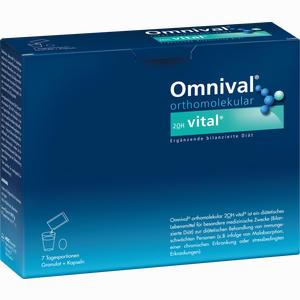 Abbildung von Omnival Orthomolekular 2oh Vital 7 Tagesportionen Granulat + Kapseln Kombipackung 1 Packung