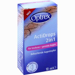 Abbildung von Optrex Actidrops 2in1 Trockene & Gereizte Augen Tropfen 10 ml