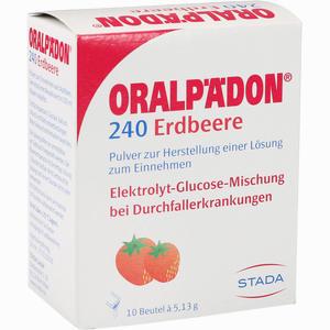 Abbildung von Oralpädon 240 Erdbeere Beutel Pulver 10 Stück