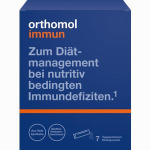 Abbildung von Orthomol Immun Direktgranulat Himbeer- Menthol  7 Stück