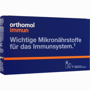 Abbildung von Orthomol Immun Trinkfläschchen + Tabletten Kombipackung  7 Stück