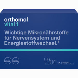 Abbildung von Orthomol Vital F Granulat/tablette/kapseln Kombipackung Orange  1 Stück