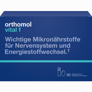Abbildung von Orthomol Vital F Trinkfläschchen & Kapseln Kombipackung 30 Stück