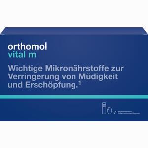 Abbildung von Orthomol Vital M Trinkfläschchen + Kapseln Kombipackung  7 Stück