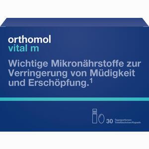 Abbildung von Orthomol Vital M Trinkfläschchen + Kapseln Kombipackung  30 Stück