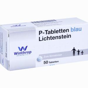 Abbildung von P- Tabletten Blau Lichtenstein 8mm  50 Stück