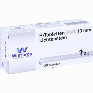 Abbildung von P- Tabletten Weiß 10mm Lichtenstein Tabletten  50 Stück