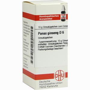 Abbildung von Panax Ginseng D6 Globuli 10 g