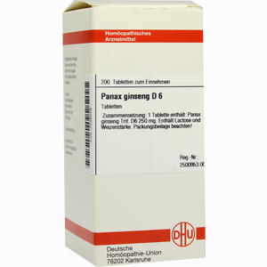 Abbildung von Panax Ginseng D6 Tabletten 200 Stück