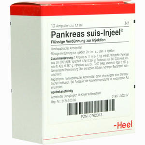 Abbildung von Pankreas Suis- Injeel Ampullen 10 Stück