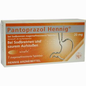 Abbildung von Pantoprazol Hennig Otc 20mg Magensaftr. Tabletten  7 Stück