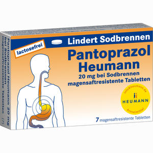 Abbildung von Pantoprazol Heumann 20mg bei Sodbrennen Msr. Tabletten  7 Stück
