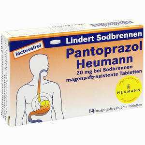 Abbildung von Pantoprazol Heumann 20mg bei Sodbrennen Msr. Tabletten  14 Stück