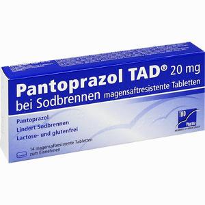 Abbildung von Pantoprazol Tad 20mg bei Sodbrennen Tabletten 14 Stück