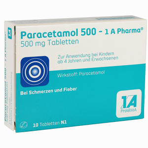 Abbildung von Paracetamol 500 - 1 A Pharma Tabletten 10 Stück