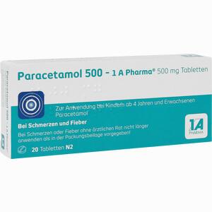 Abbildung von Paracetamol 500 - 1 A Pharma Tabletten 20 Stück