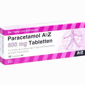 Abbildung von Paracetamol Abz 500mg Tabletten  10 Stück