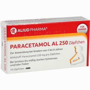 Abbildung von Paracetamol Al 250 Zäpfchen 10 Stück