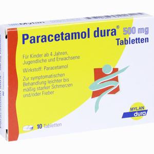 Abbildung von Paracetamol Dura 500mg Tabletten  10 Stück