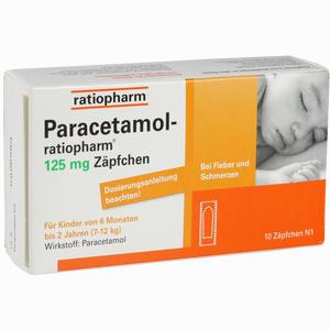 Abbildung von Paracetamol- Ratiopharm 125mg Zäpfchen Säuglingszäpfchen 10 Stück