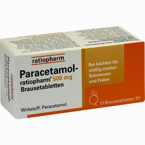 Abbildung von Paracetamol- Ratiopharm 500mg Brausetabletten  10 Stück