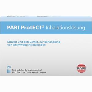 Abbildung von Pari Protect Inhalationslösung mit Ectoin 20x2.5ml Ampullen 20 x 2.5 ml