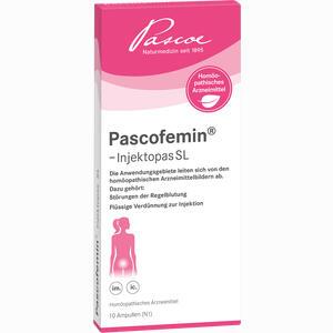 Abbildung von Pascofemin- Injektopas Sl Ampullen 10 x 2 ml