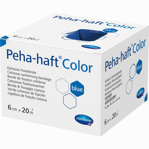 Abbildung von Peha- Haft Color Fixierbinde Latexfrei 6cmx20m Blau  1 Stück