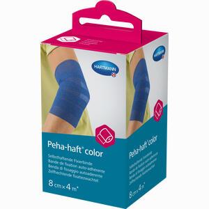 Abbildung von Peha- Haft Color Fixierbinde Latexfrei 8cmx4m Blau  1 Stück