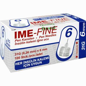 Abbildung von Pen Kanülen Ime- Fine Universal 31g/6mm  100 Stück