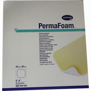 Abbildung von Perma Foam Schaumverband 20x20cm 3 Stück