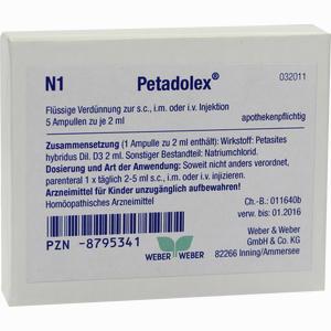 Abbildung von Petadolex Ampullen 5 x 2 ml