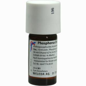 Abbildung von Phosphorus D6 Dilution Weleda 20 ml