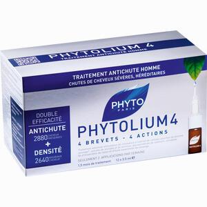 Abbildung von Phyto Phytolium 4 Kur Anti- Haarausfall für Männer Ampullen 12 x 3.5 ml