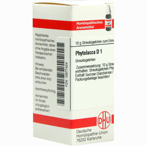 Abbildung von Phytolacca D1 Globuli 10 g