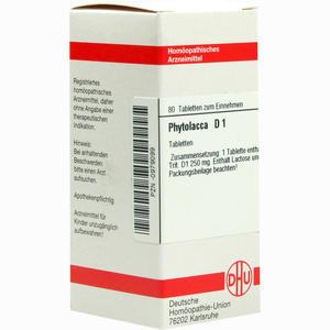 Abbildung von Phytolacca D1 Tabletten 80 Stück