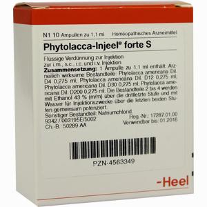 Abbildung von Phytolacca- Injeel Forte S Ampullen  10 Stück