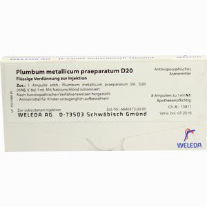 Abbildung von Plumbum Met Praep D20 Ampullen 8 x 1 ml