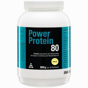 Abbildung von Power Protein 80 Vanille Pulver 900 g
