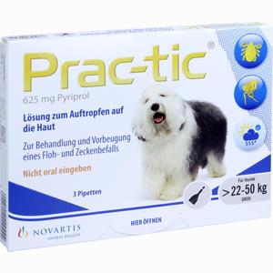 Abbildung von Prac- Tic für Große Hunde 22kg- 50kg Einzeldosispipetten 3 Stück