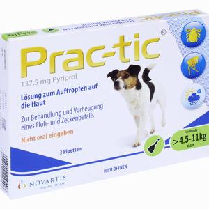 Abbildung von Prac- Tic für Kleine Hunde 4.5kg- 11kg Einzeldosispipetten 3 Stück