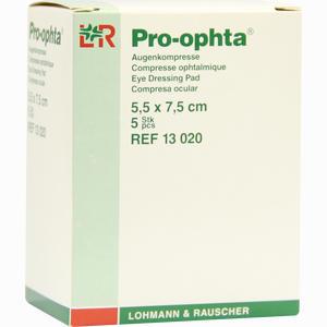 Abbildung von Pro Ophta Augenkompresse 5,5x7,5cm Kompressen 5 Stück