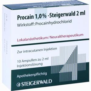 Abbildung von Procain 1% Steigerwald Injektionslösung 10 x 2 ml