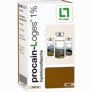 Abbildung von Procain- Loges 1% Injektionsflasche Infusionslösung 100 ml