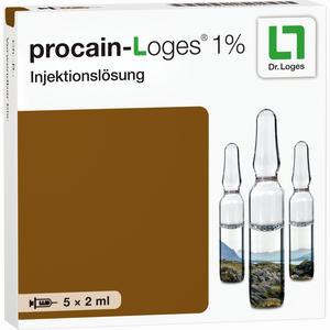 Abbildung von Procain- Loges 1% Injektionslösung Ampullen 5 x 2 ml