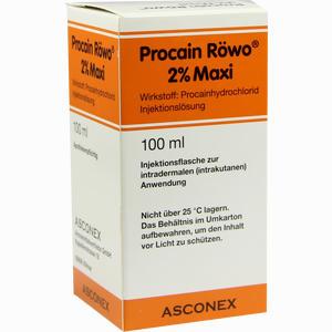 Abbildung von Procain Röwo 2% Maxi Infusionslösung 100 ml