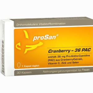 Abbildung von Prosan Cranberry 36 Pac Kapseln  30 Stück