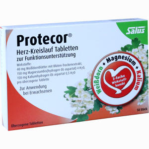 Abbildung von Protecor Herz- Kreislauf Tabl.z.funktionsunt.salus Tabletten 50 Stück