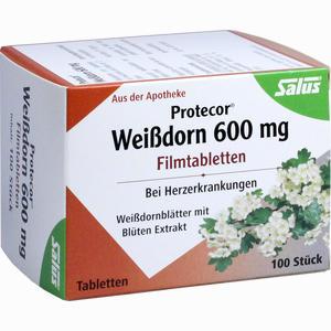 Abbildung von Protecor Weißdorn 600mg Filmtabletten  100 Stück