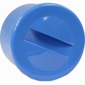 Abbildung von Prothesenbehälter Blau Kunststoff mit Deckel 1 Stück
